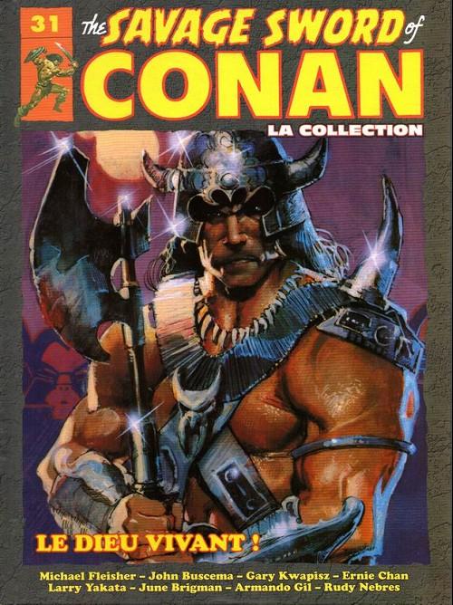 Couverture de Savage Sword of Conan (The) - La Collection (Hachette) -31- Le dieu vivant !