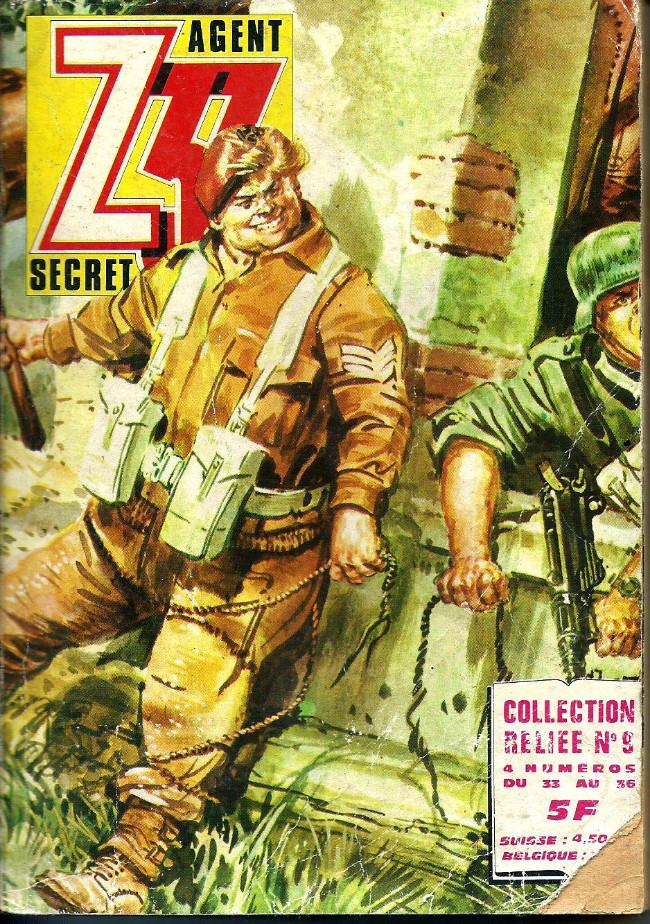 Couverture de Z33 agent secret -Rec09- Collection reliée N°9 (du n°33 au n°36)