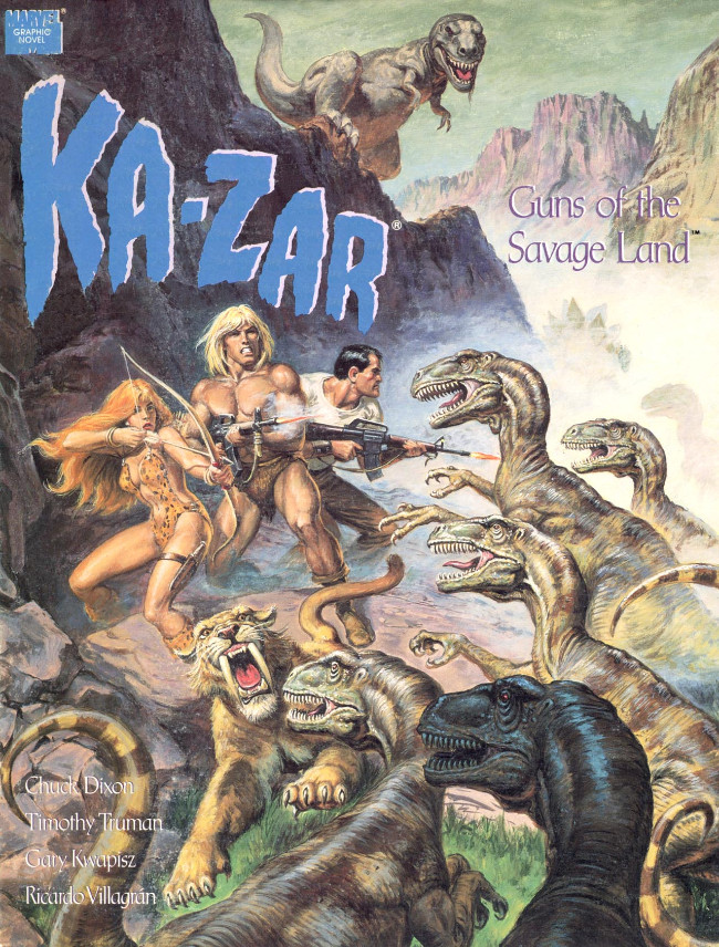 Couverture de Marvel Graphic Novel (Marvel comics - 1982) -62- Ka-Zar: Guns of the Savage Land