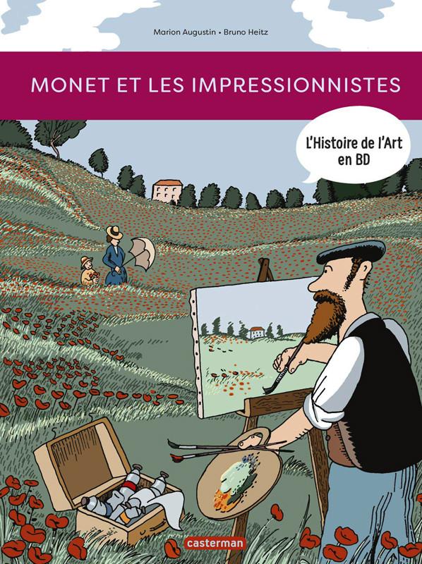 Couverture de L'histoire de l'art en BD -3- Monet et les impressionnistes