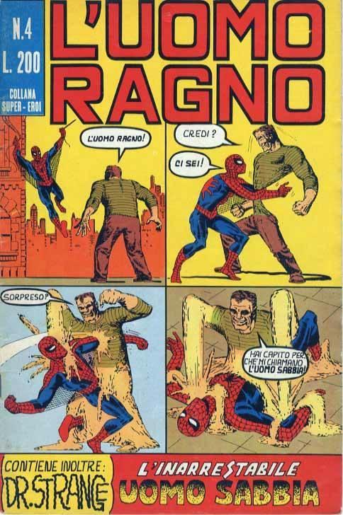 Couverture de L'uomo Ragno V1 (Editoriale Corno - 1970)  -4- L'Inarrestabile Uomo Sabbia