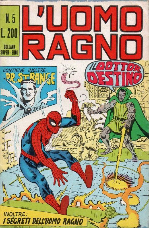 Couverture de L'uomo Ragno (Editoriale Corno) V1 -5- Il Dottor Destino