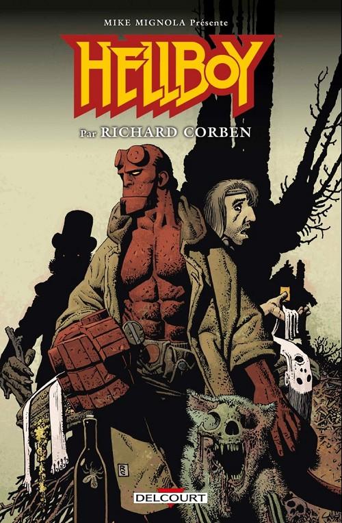 Couverture de Hellboy (Delcourt) -INT- Mike mignola présente hellboy par richard corben