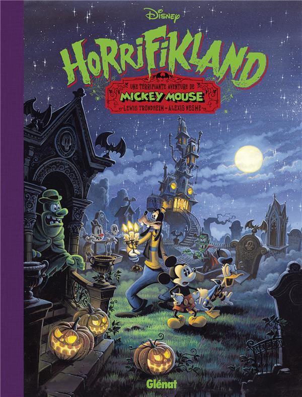 Couverture de Mickey (collection Disney / Glénat) -9- Horrifikland - Une terrifiante aventure de Mickey Mouse