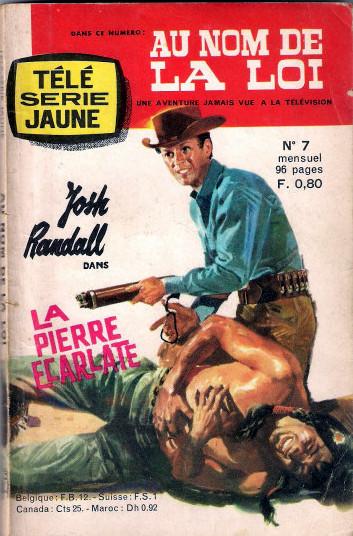 Couverture de Télé série jaune (Au nom de la loi) -7- La Pierre Ecarlate