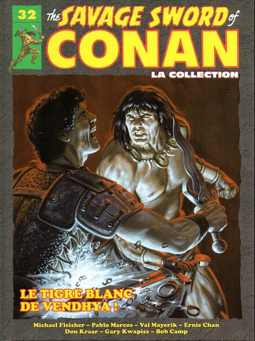 Couverture de Savage Sword of Conan (The) - La Collection (Hachette) -32- Le tigre blanc de vendhya !