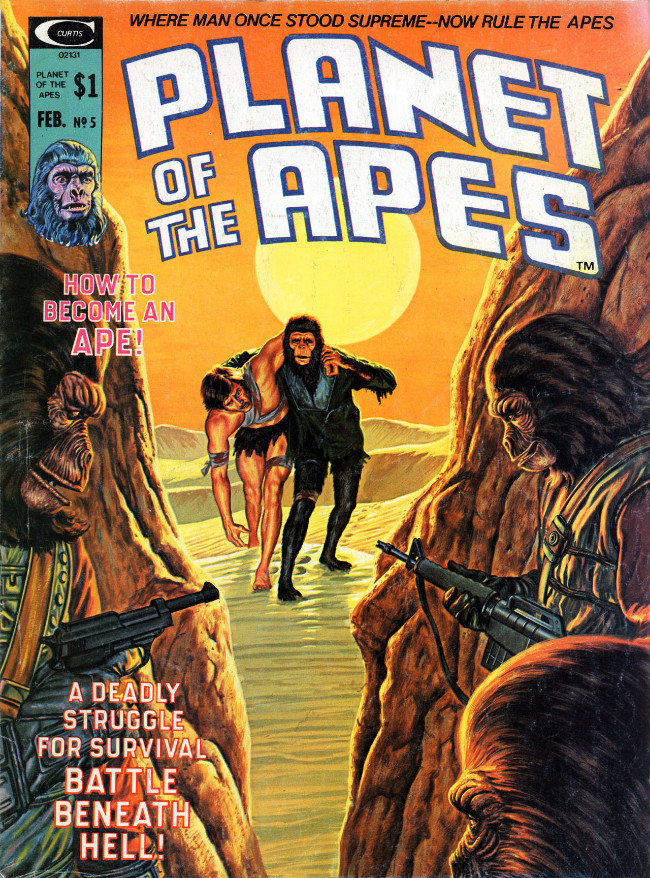 Couverture de Planet of the Apes (Marvel comics - 1974) -5- How to Become an Ape
