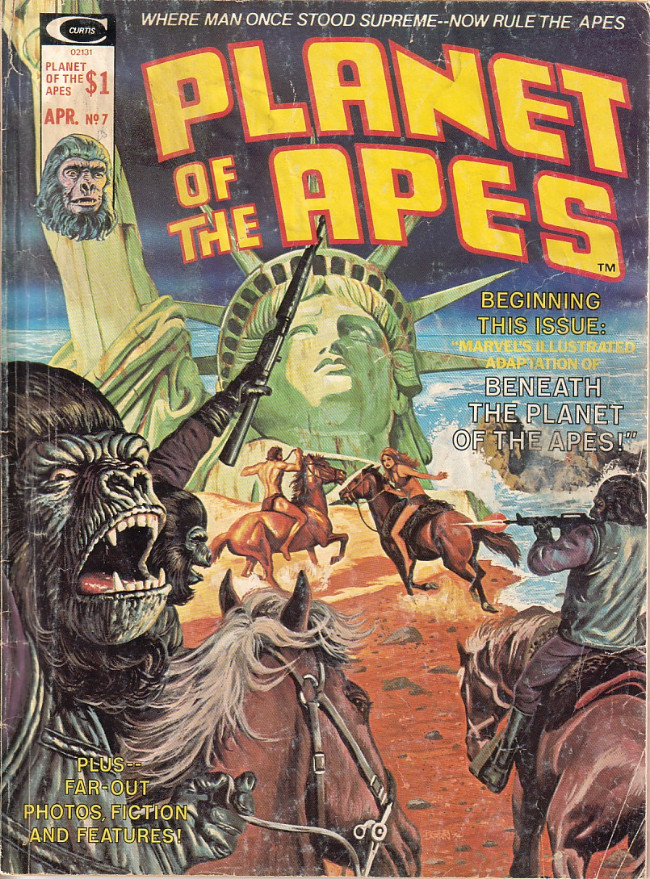 Couverture de Planet of the Apes (Marvel comics - 1974) -7- Marvel's Illustrated Adaptation of Beneath the Planet of the Apes