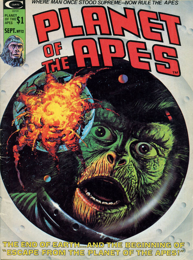 Couverture de Planet of the Apes (Marvel comics - 1974) -12- Escape From the Planet of the Apes!