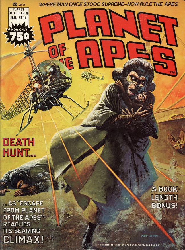 Couverture de Planet of the Apes (Marvel comics - 1974) -16- Death hunt...