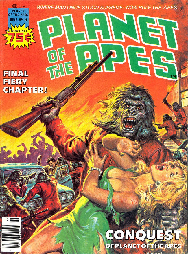 Couverture de Planet of the Apes (Marvel comics - 1974) -21- Conquest of Planet of the Apes
