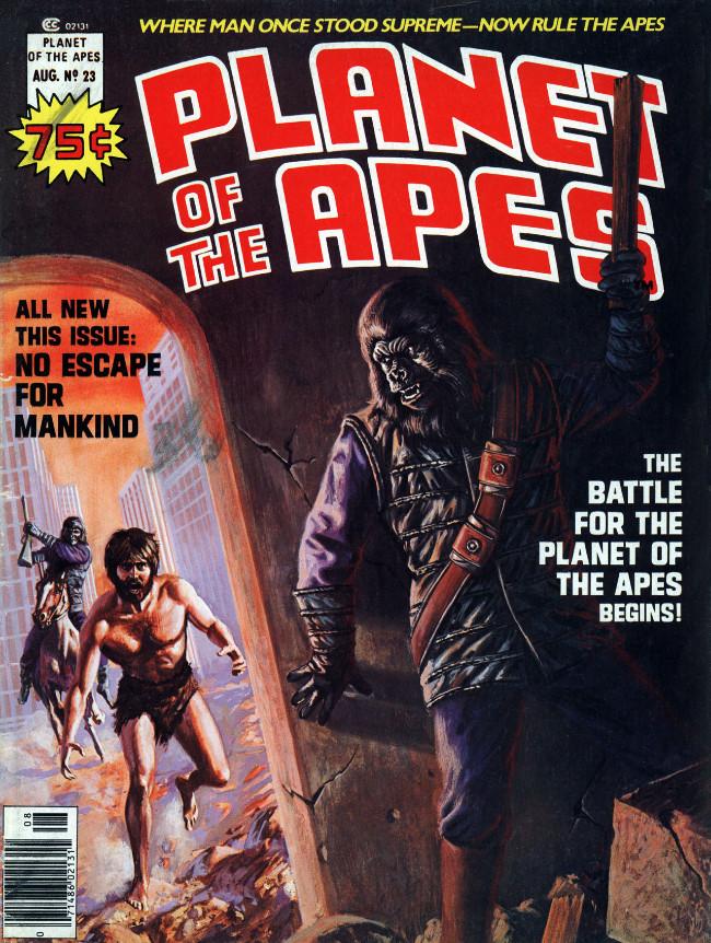 Couverture de Planet of the Apes (Marvel comics - 1974) -23- No escape for mankind