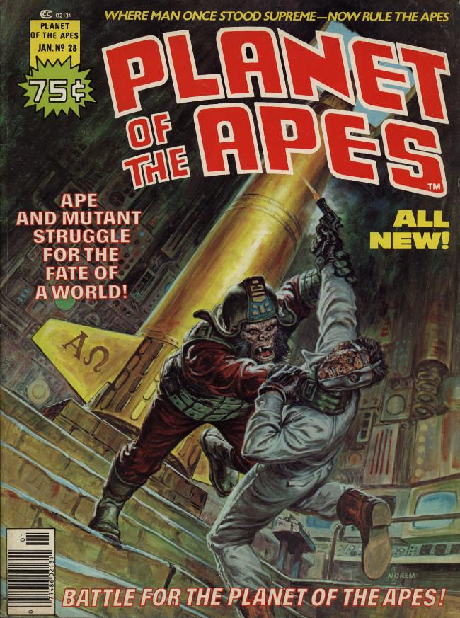 Couverture de Planet of the Apes (Marvel comics - 1974) -28- Battle for the Planet of the Apes