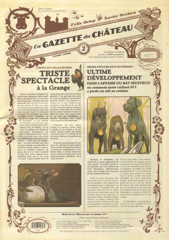 Couverture de Le château des animaux -2- La Gazette du Château n°2