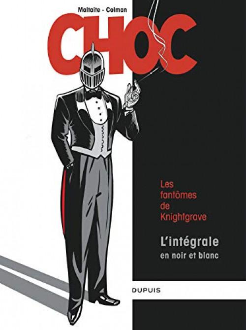 Couverture de Choc (Maltaite/Colman) -INT- Les fantômes de Knightgrave - L'intégrale en noir et blanc