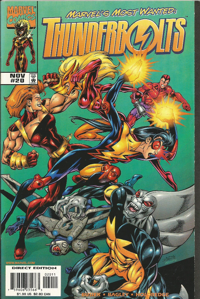 Couverture de Thunderbolts Vol.1 (Marvel Comics - 1997) -20- Decisions part 1: Turning point