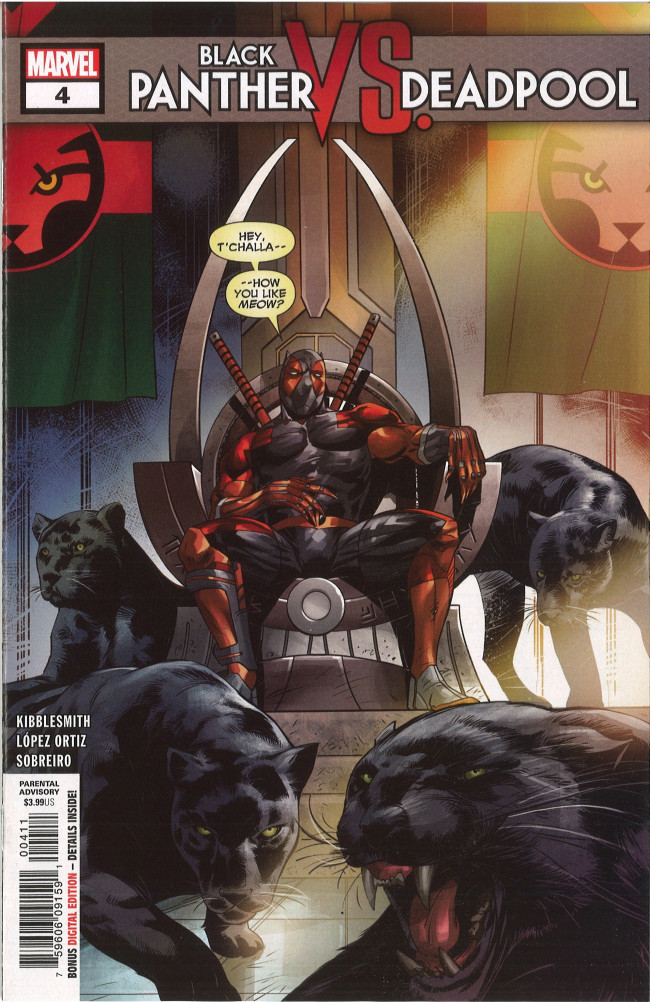 Couverture de Black Panther VS. Deadpool -4- Part Four: A Classic Marvel Team-Up (or Something)!