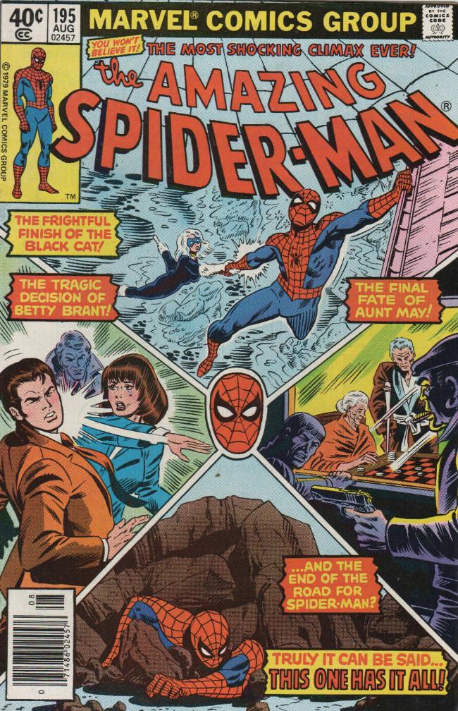 Couverture de Amazing Spider-Man (The) (1963) -195- 'Nine Lives Has the Black Cat!'