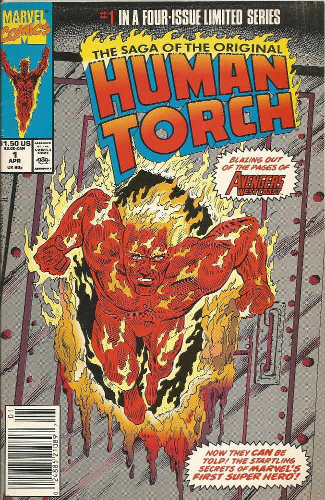 Couverture de Saga of the original Human Torch (The) (1990) -1- The lighted Torch