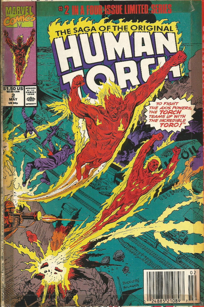 Couverture de Saga of the original Human Torch (The) (1990) -2- The world on fire!