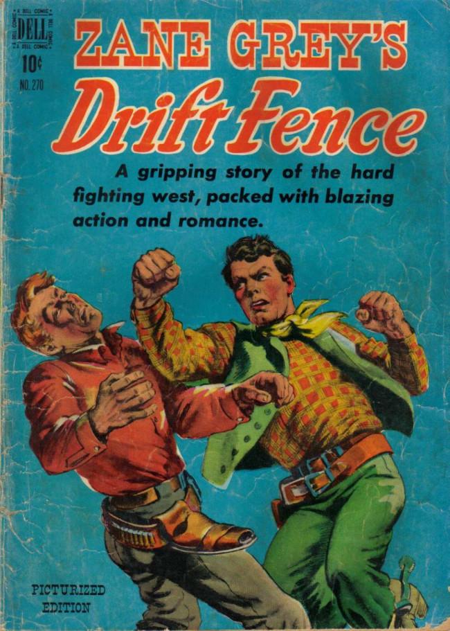 Couverture de Four Color Comics (Dell - 1942) -270- Zane Grey's Drift Fence