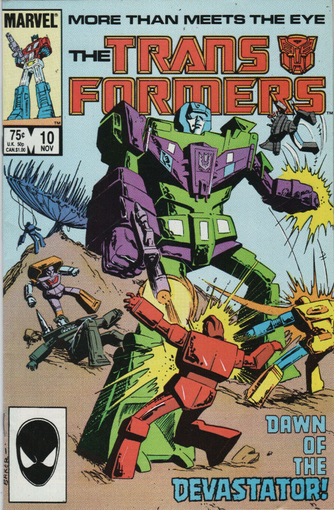 Couverture de Transformers (The) (1984) -10- Dawn of the Devastator!