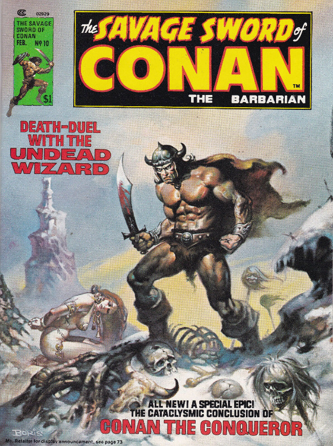 Couverture de Savage Sword of Conan The Barbarian (The) (1974) -10- Death-Duel with the Undead Wizard