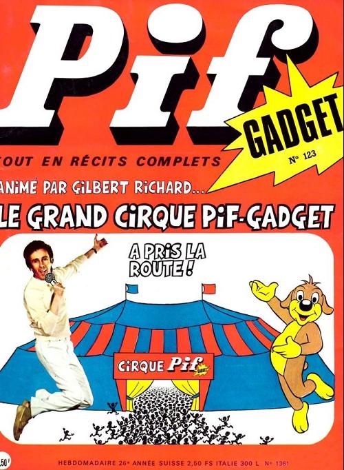 Couverture de Pif (Gadget) -123- Le grand cirque pif gadget