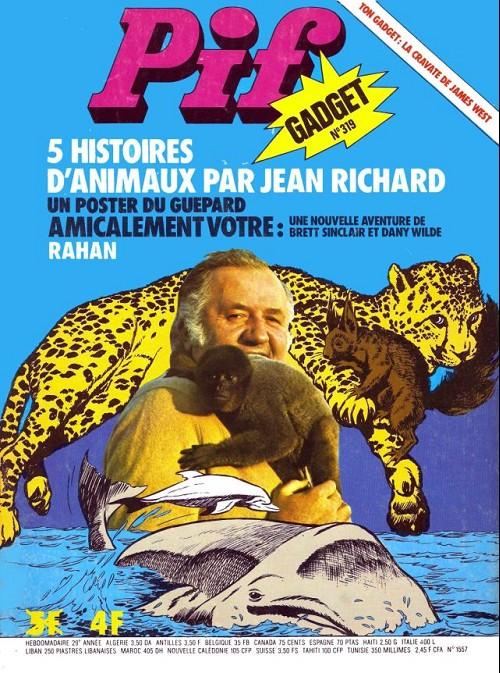 Couverture de Pif (Gadget) -319- 5 histoires d'animaux par jean richard