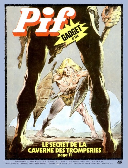 Couverture de Pif (Gadget) -334- Le secret de la caverne des tromperies