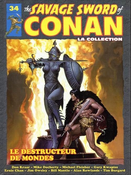 Couverture de Savage Sword of Conan (The) - La Collection (Hachette) -34- Le destructeur de mondes