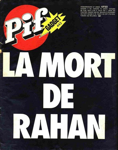 Couverture de Pif (Gadget) -443- La mort de rahan