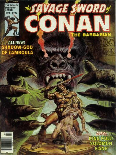 Couverture de Savage Sword of Conan The Barbarian (The) (1974) -14- Shadow-God of Zamboula