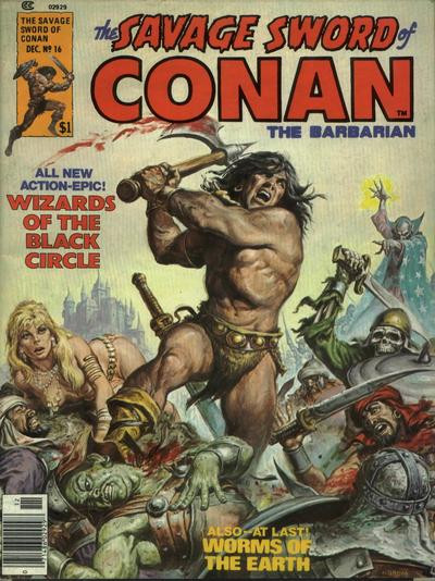 Couverture de Savage Sword of Conan The Barbarian (The) (1974) -16- Wizards of the Black Circle