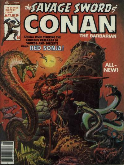 Couverture de Savage Sword of Conan The Barbarian (The) (1974) -29- Child of Sorcery