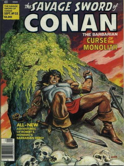 Couverture de Savage Sword of Conan The Barbarian (The) (1974) -33- Curse of the Monolith