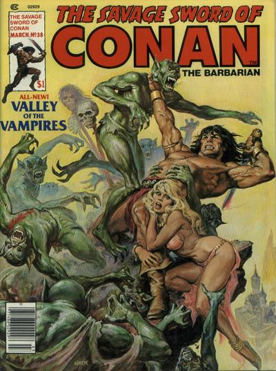 Couverture de Savage Sword of Conan The Barbarian (The) (1974) -38- Valley of the Vampires