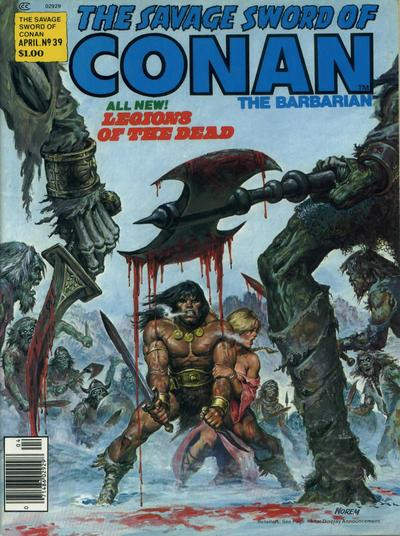 Couverture de Savage Sword of Conan The Barbarian (The) (1974) -39- Legions of the Dead