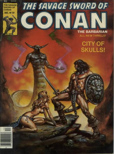 Couverture de Savage Sword of Conan The Barbarian (The) (1974) -59- City of Skulls!