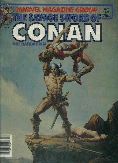 Couverture de Savage Sword of Conan The Barbarian (The) (1974) -66- The Sea of No Return