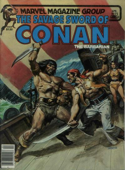 Couverture de Savage Sword of Conan The Barbarian (The) (1974) -75- The Temple of the Twelve-Eyed Thing
