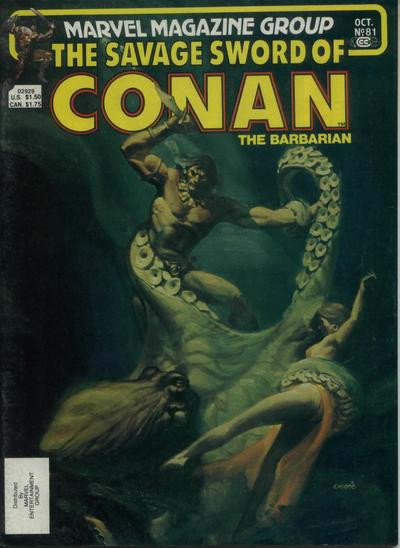 Couverture de Savage Sword of Conan The Barbarian (The) (1974) -81- The Palace of Pleasure!