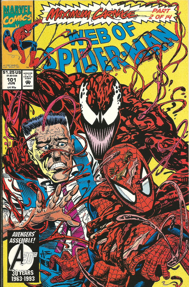 Couverture de Web of Spider-Man (1985) -101- Maximum Carnage part 2
