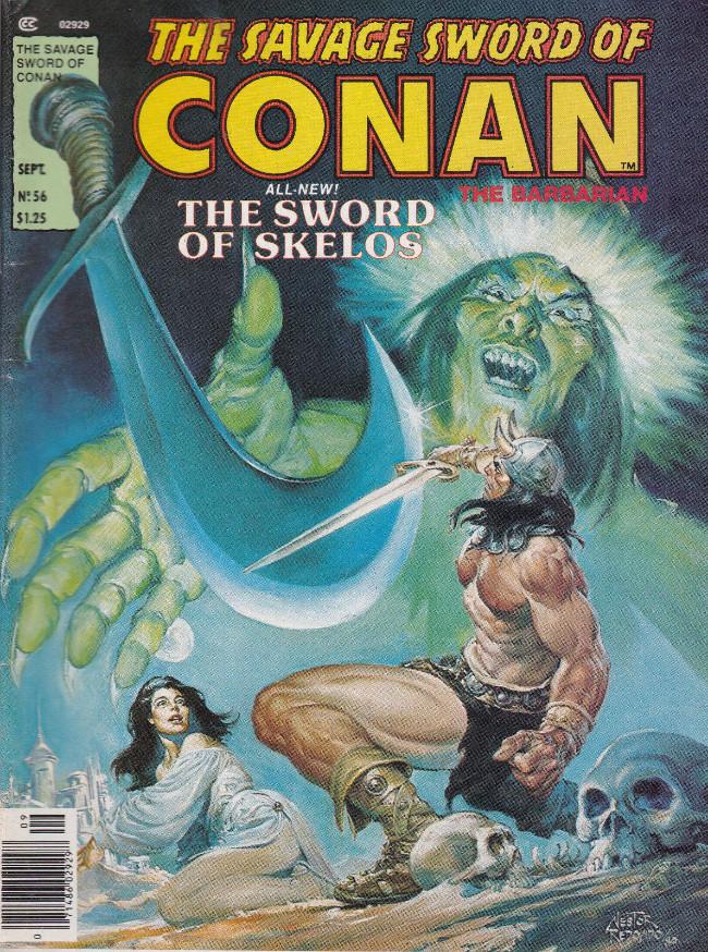 Couverture de Savage Sword of Conan The Barbarian (The) (1974) -56- The Sword of Skelos