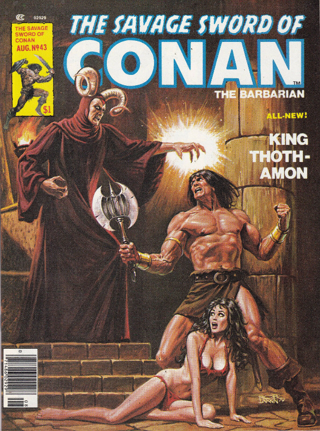 Couverture de Savage Sword of Conan The Barbarian (The) (1974) -43- King Thoth-Amon