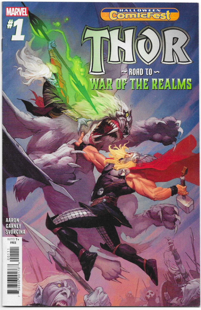 Couverture de Halloween Comicfest Edition (2018) - Thor - To The War of The Realms