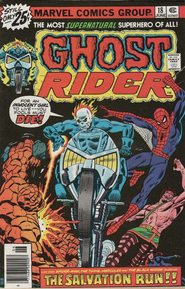 Couverture de Ghost Rider Vol.2 (Marvel comics - 1973) -18- The Salvation Run!!