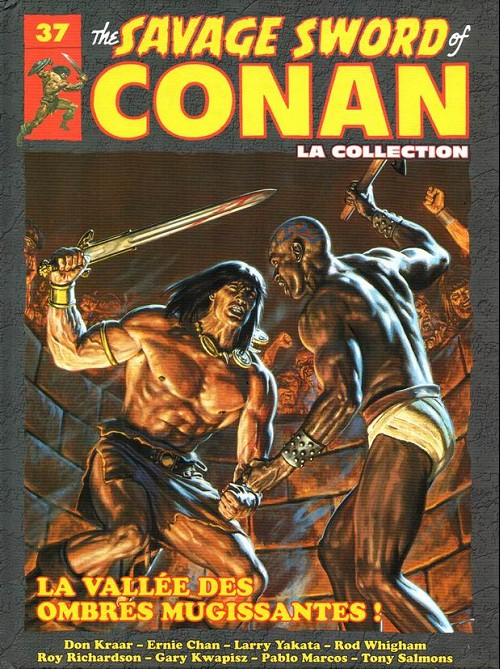 Couverture de Savage Sword of Conan (The) - La Collection (Hachette) -37- La vallée des ombres mugissantes !