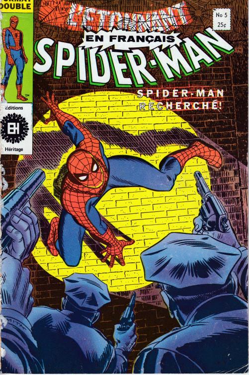 Couverture de L'Étonnant Spider-Man (Éditions Héritage) -5- Spider-man recherché !