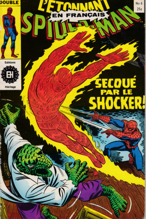 Couverture de L'Étonnant Spider-Man (Éditions Héritage) -6- Secoué par le Schoker !